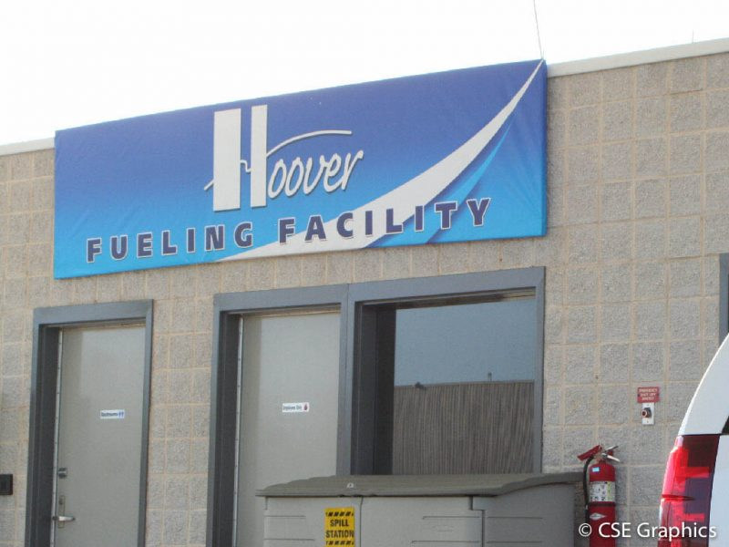 Vinyl Hoover Fueling Facility Banner